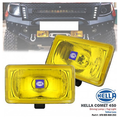 ORIGINAL HELLA COMET 450 Spot Lamp Fog Light (Yellow) with H3 Halogen Bulb