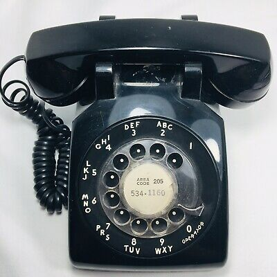 Vintage South Western Rotary Phone Bell Western Electric RARE Black