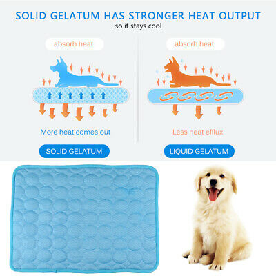 Dog Cooling Mat Pet Cat Chilly Non-Toxic Safe Summer Cool Bed Pad Cushion Indoor