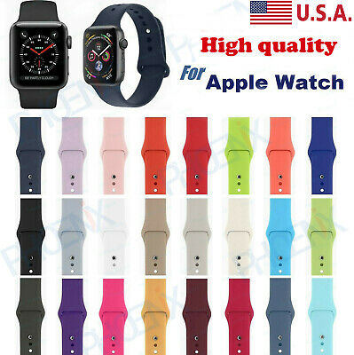 38/42/40/44mm Silicone Sports Band iWatch Strap For Appl e Watch Series 1/2/3/4