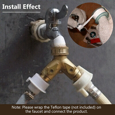 2 Park 4/3 Thread Two-Way Double Garden Tap Hose Pipe Splitter Faucet Connector