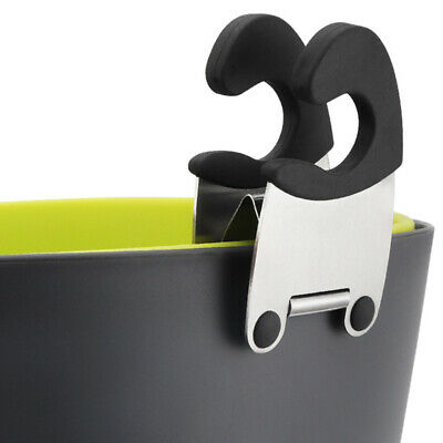 Stainless Steel Pot Clip Clamp Tongs Holder for Spoon Spatula Rack Cooking Tool.