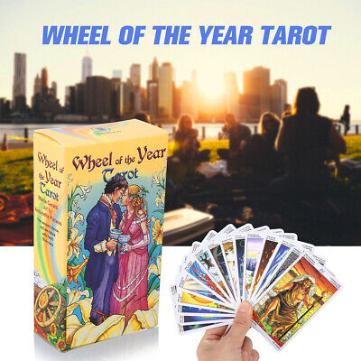 Wheel of the Year Tarot Board Game Future Telling 78 Cards Deck in English NEW