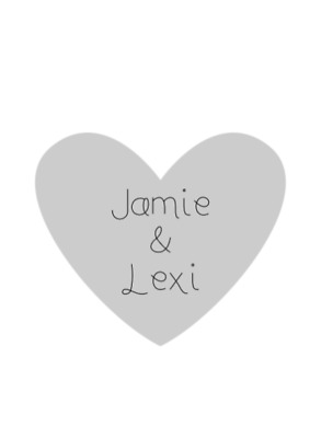 Personalised Wedding Table Confetti approx 50 hearts with your names coloured