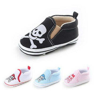 Casual Skull Patte Toddler Infant Newborn Baby Girls Boy Autumn Loafers Sneakers