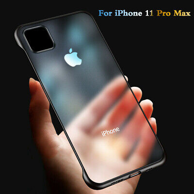 For iPhone 11 Pro XS Max  Frameless Thin Case Transparent Scrub Matte Cover