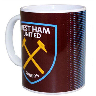 Official  WEST HAM UNITED F.C HALFTONE Ceramic Mug Cup Tea Coffee 11oz GIFT