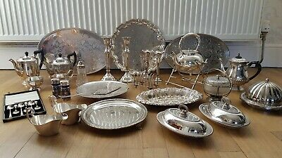 Beautiful Large Job Lot Of Antique And Vintage Silver Plated Items