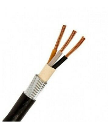 10mm SWA Armoured Cable 3 Core 10m