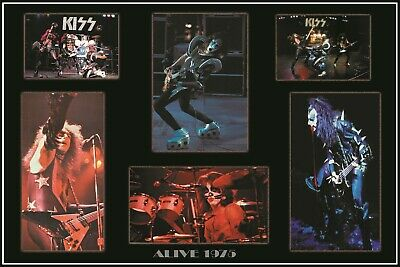 KISS 1975 ALIVE! CUSTOM 24x36 QUALITY POSTER#2  MINT CLASSIC COLAGE LAST ONE !