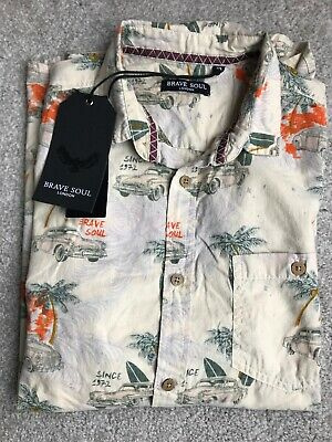 BRAVE SOUL LONDON - Kapuab Hawaiian - Short Sleeve Summer Shirt M