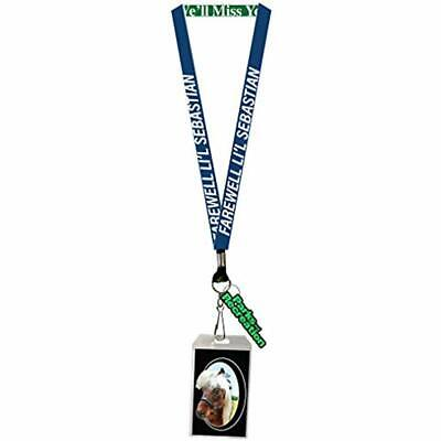 Parks And Recreation Farewell Li'l Sebastian Lanyard With Clear ID Badge Holder