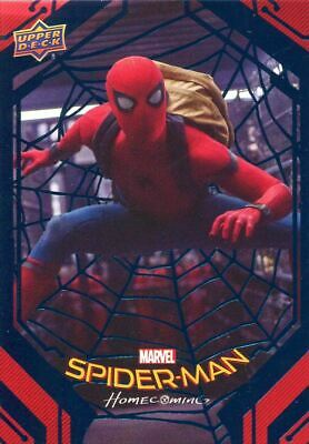 Spiderman Homecoming Blue Foil [99] Base Card #44 Inside the Truck