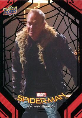 Spiderman Homecoming Black Foil [49] Base Card #80 The Vulture's Plot