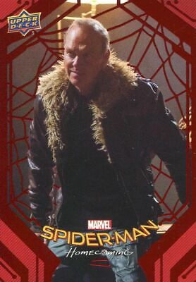 Spiderman Homecoming Red Foil [199] Base Card #80 The Vulture's Plot
