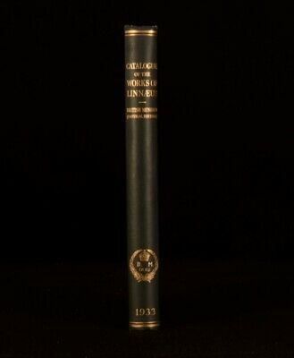 1933 A Catalogue of the Works of Linnaeus Illustrated