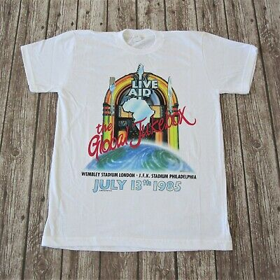 Live Aid - Official Vintage 1985 Concert T-Shirt Wembley Queen Freddie Mercury