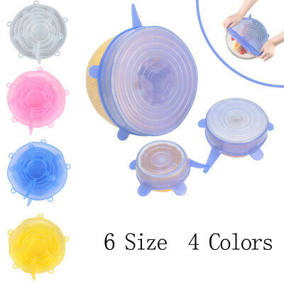 Stretchable Silicone Lid Set Fresh-keeping Cover Cover Reusable stretchSC