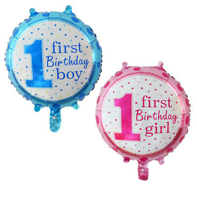 1st Baby Boy and Girl Balloons Birthday Party Decor Bar Christmas GSC