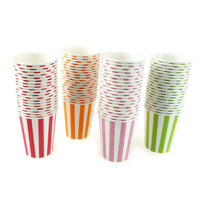 20pcs Striped Happy Birthday Theme Party Paper Cup Cake Baby Shower SupplySC