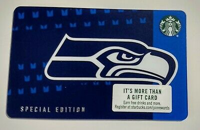 2018 STARBUCKS SEATTLE SEAHAWKS SPECIAL EDITION GIFT CARD COLLECTIBLE 12th Man