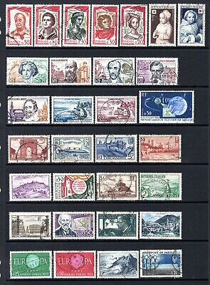 FRANCE MID PERIOD TO MODERN GOOD TO FINE USED SETS & ODDS x 55 STAMPS NOT CAT