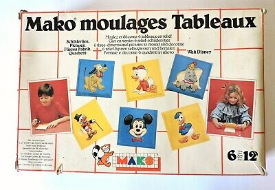MAKO moulages tableaux Disney - 6 moules différents mickey dumbo picsou donald..