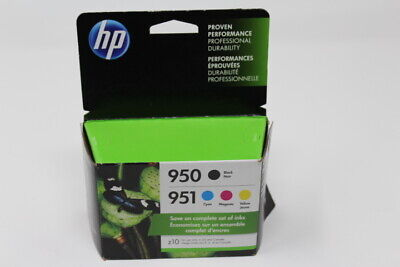 4-PACK HP GENUINE 950 Black & 951 Color Ink (RETAIL BOX) X4E06AN Exp. 2021