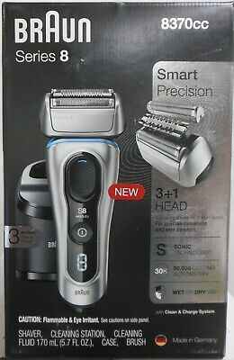 Braun Series 8 8370cc Wet and Dry Foil Shaver
