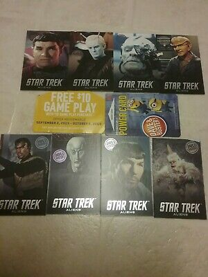 Dave and Buster's Star Trek Aliens LIMITED EDITION pusher cards Set with Mugato