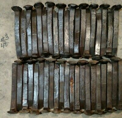 "40 Vintage Railroad HC Spikes,Some Rust, All Slightly Bent, Welding, 6 1/2"" NICE"