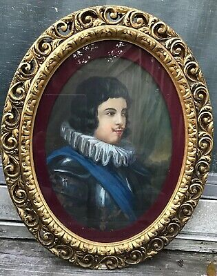 Antique 19thC MEDIEVAL KNIGHT in ARMOR PORTRAIT Old VICTORIAN PAINTING on COPPER