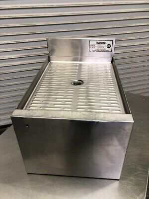 """12"""" Drainboard Under Bar Section Glass Wash Extension NSF Krowne 18GS12 #2752"""
