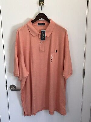 New Polo Ralph Lauren Big and Tall Soft Touch Polo Shirt Orange 5XB