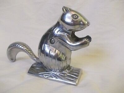 Vintage/Retro/Fun Large Aluminum Squirrel Nut Cracker Lightly Polished