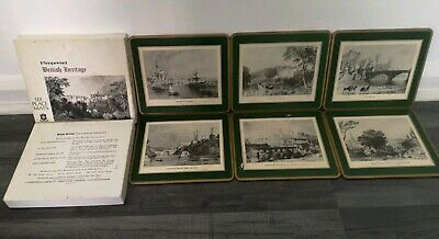 """Pimpernel British Heritage Placemats - County Durham - 12"""" x 9"""" set of 6!!!!!!!"""