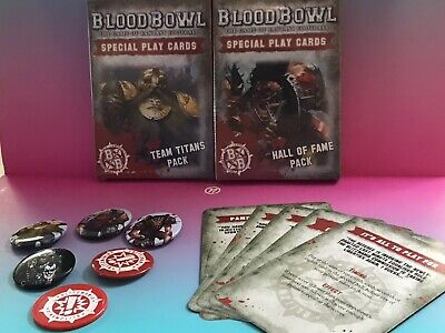 Blood Bowl Special Play Cards Team Titans Hall of Fame Blitzmania Promos OOP NIB