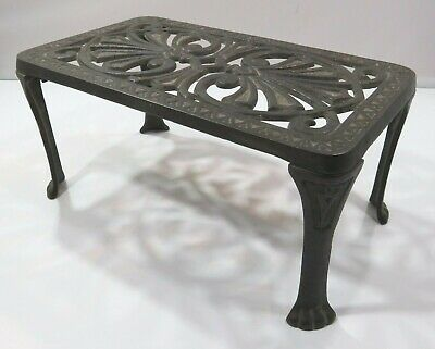 Antique Cast Iron Trivet Small Stool Footstool