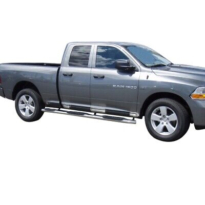 "RAM 1500 QUAD CAB 2002-2008 NERF BARS Stainless Steel 3/"" Round A0002S For"