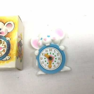 Vintage Collectible Avon Minute Mouse Moveable Clock Pin  Pal NEW IN BOX  UNUSED