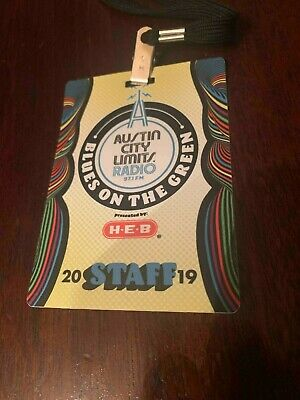 Austin City Limits 2019 STAFF BADGE CREDENTIAL Collector Item Blues on the Green
