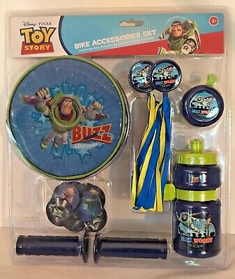 Disney Toy Story Bike Accessories Set | Grips, Streamers, Bell & More | NEW!