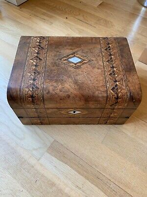 antique writing and sewing box
