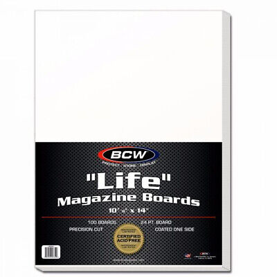 (1500) BCW LIFE MAGAZINE or PROGRAM ACID FREE RESEALABLE BAGS & BACKING BOARDS