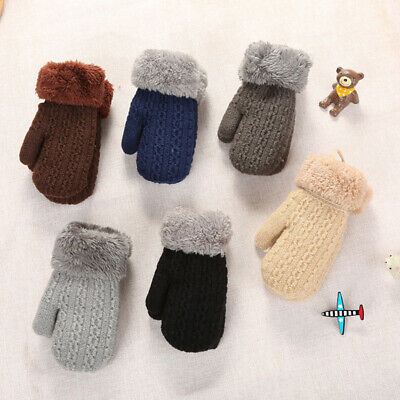 Warm Winter Gloves Baby Boy Girl Stretch Printing Infant Mittens Wears Shan
