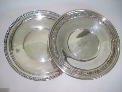"Two Vintage Sterling Silver Serving Plates 7.5"" 435 Grams Randahl"