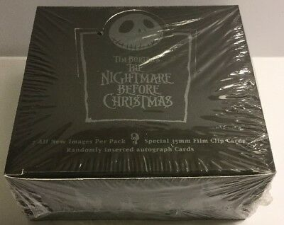 Rare Nightmare Before Christmas Trading Card Box Sealed Neca - Tim Burton Auto ?