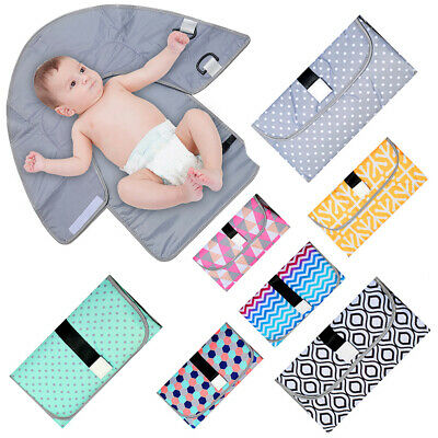 AU_ Waterproof Baby Diaper Changing Mat Travel Home Change Pad Portable Nappy Ma