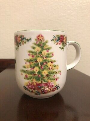 Royal Albert Old Country Roses Mug Holiday Classic Collection Christmas Tree
