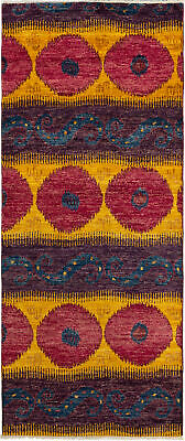 """Hand-knotted  3'11"""" x 9'9"""" Shalimar Casual, Transitional Wool Rug"""